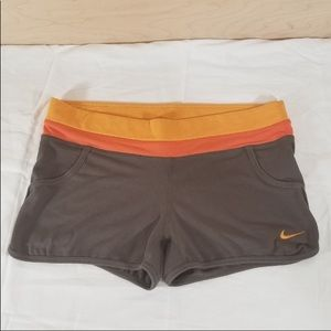 Nike Clay Brown and Orange Compression Shorts